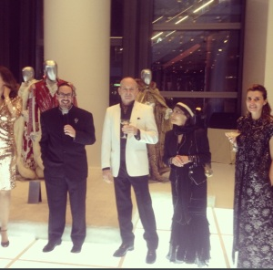 Anna Nateece celebrates the opening of the Liberace Exhibition at the Cosmopolitan Hotel in Las Vegas