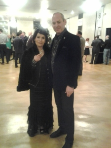 Anna Nateece with the Consul of Monaco at Liberace Mansion