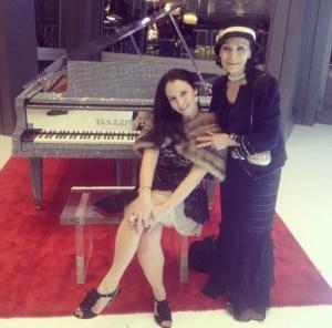 Sari Grossman joins Anna Nateece at Liberace Exhibition at Cosmopolitan Las Vegas