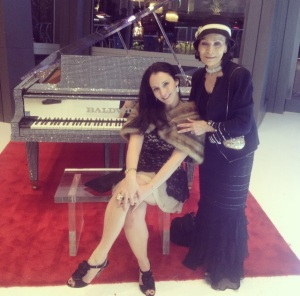 Sari Grossman joins Anna Nateece at Liberace Exhibition at Cosmopolitan Las Vegas